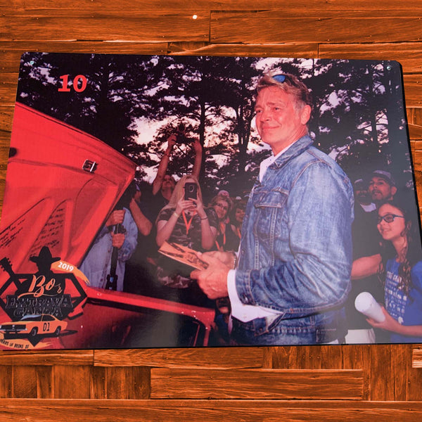 John Gets The General Lee - Tin Memorabilia Photo - JohnSchneiderStudioStore