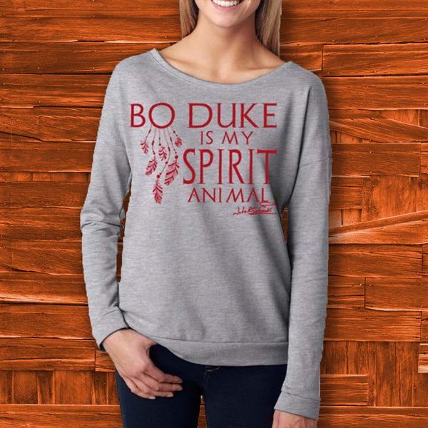 Bo Duke is my Spirit Animal Long Sleeve Shirt - JohnSchneiderStudioStore