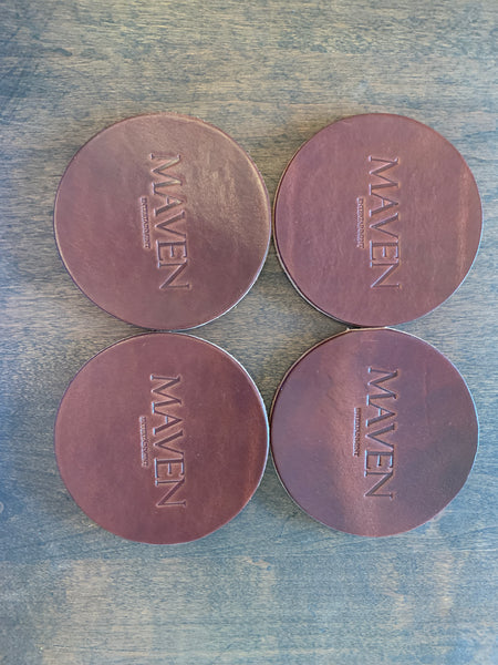 Leather Maven Coaster