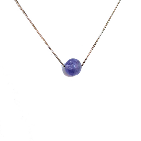 Solo Necklace - Tanzanite (December Birthstone)