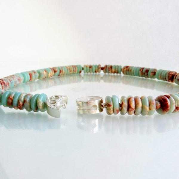 Coral Reef Necklace Silver Rondelle