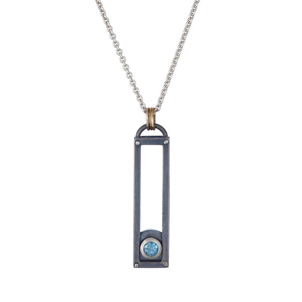 ShipShape Necklace - Aquamarine