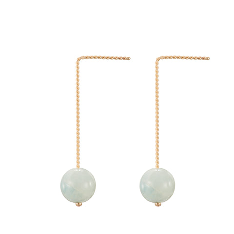 Solo Long Earring - Green Beryl