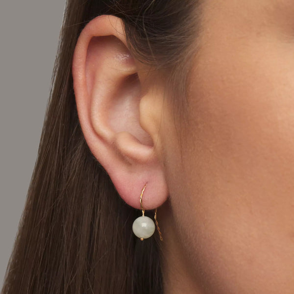 Solo Long Earring - Emerald (Green Beryl)