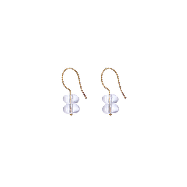 Trio Drop Earrings - Rock Crystal