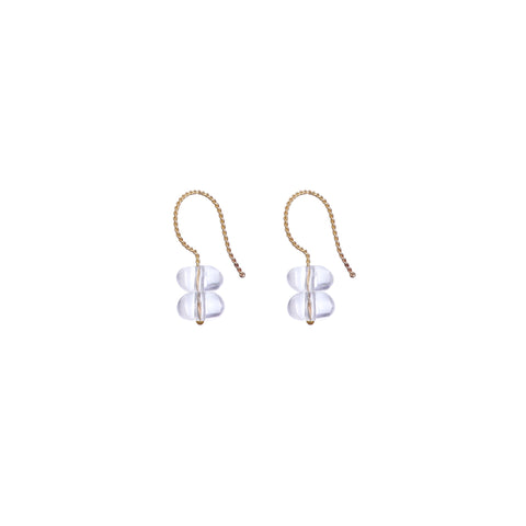 Trio Drop Earrings - Water Quartz