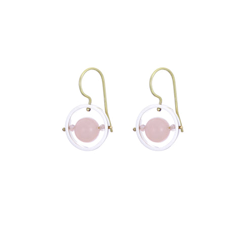 Ice Rink Earrings - Morganite (Pink Beryl)