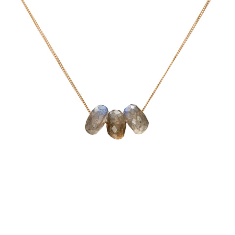 Trio Necklace - Labradorite