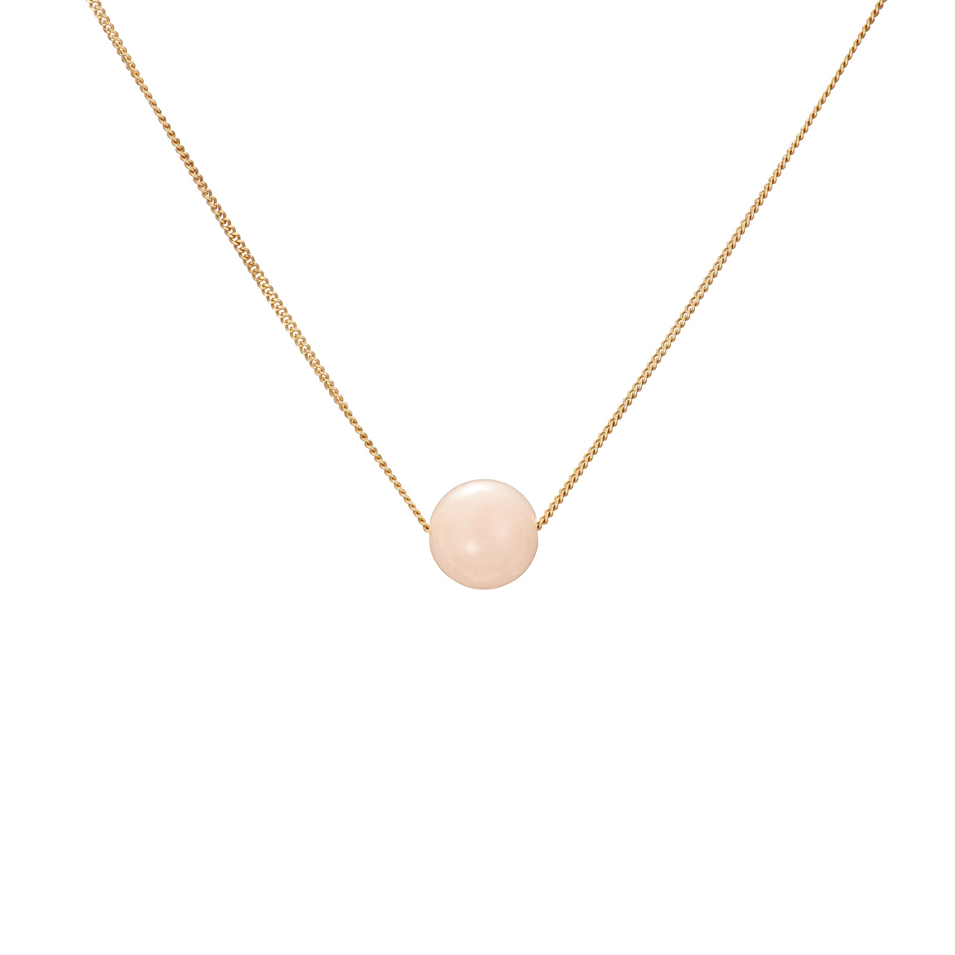Solo Necklace - Pink Beryl (Morganite)