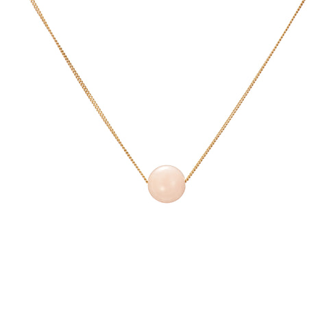 Solo Necklace - Morganite (Pink Beryl)