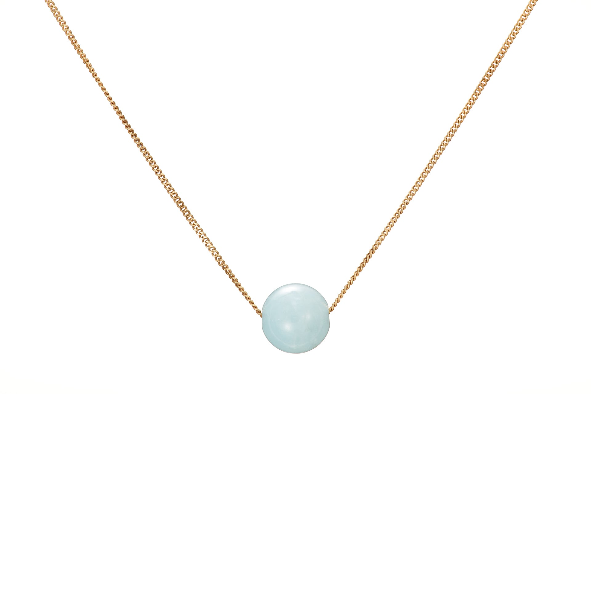 Solo Necklace - Aquamarine (Blue Beryl)