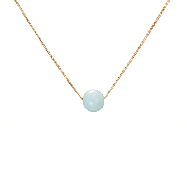 Solo Necklace - Blue Beryl (Aquamarine)