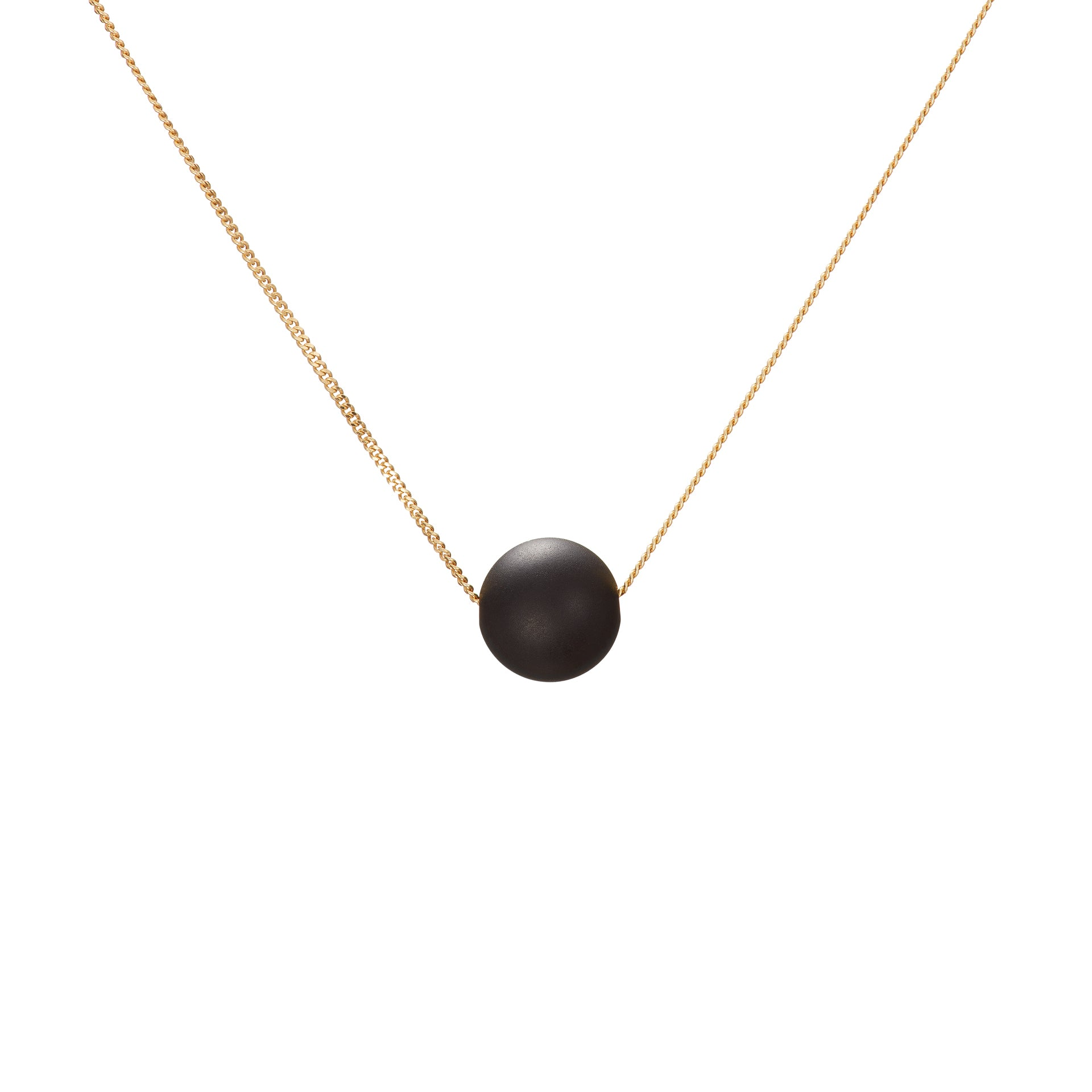 Solo Necklace - Matte Black Onyx
