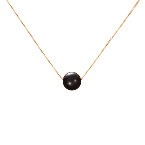 Solo Necklace - Glossy Black Onyx