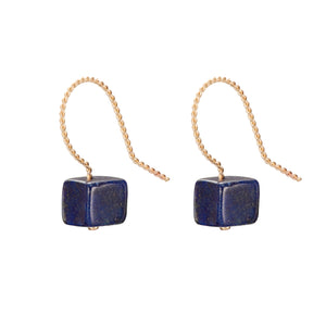 Cubo Drop Earrings - Lapis Lazuli