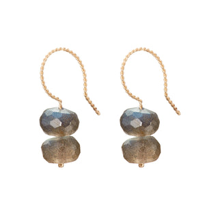 Trio Drop Earrings - Labradorite