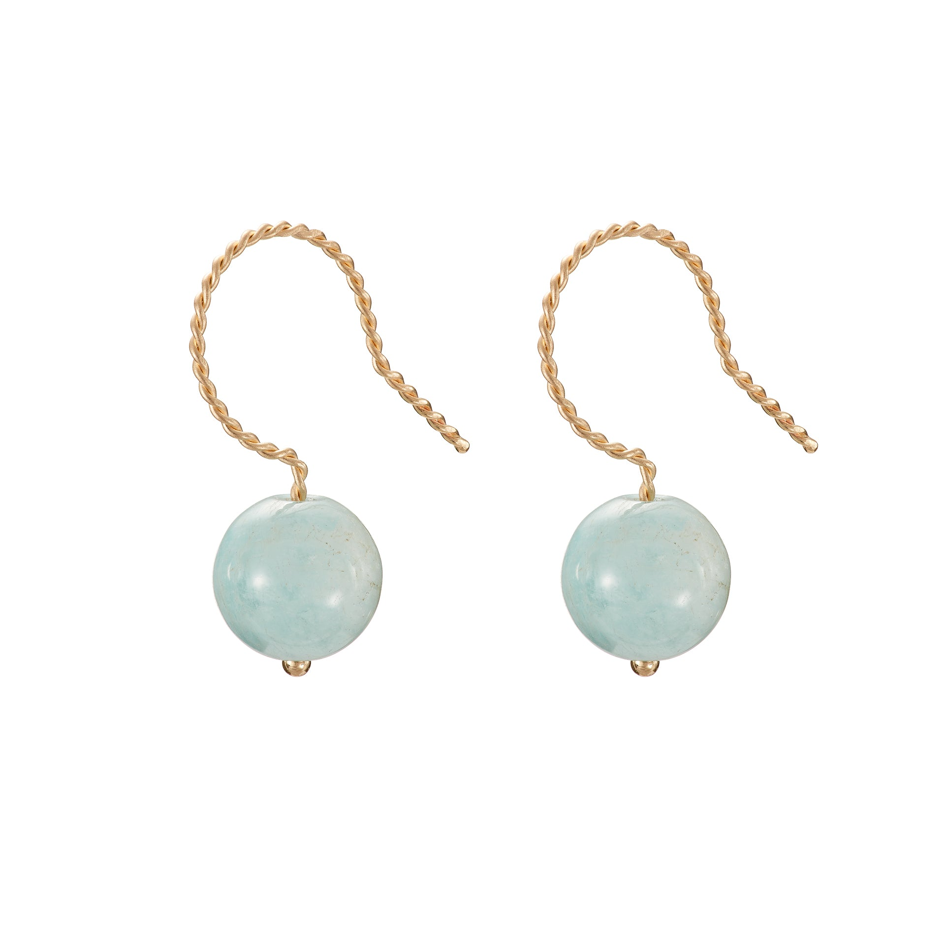Solo Drop Earring - Aquamarine (Blue Beryl)