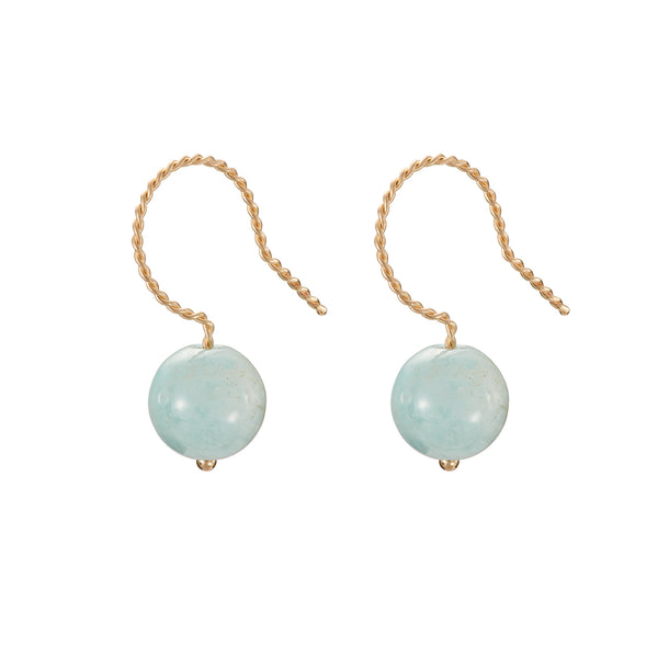 Solo Drop Earring - Blue Beryl (Aquamarine)