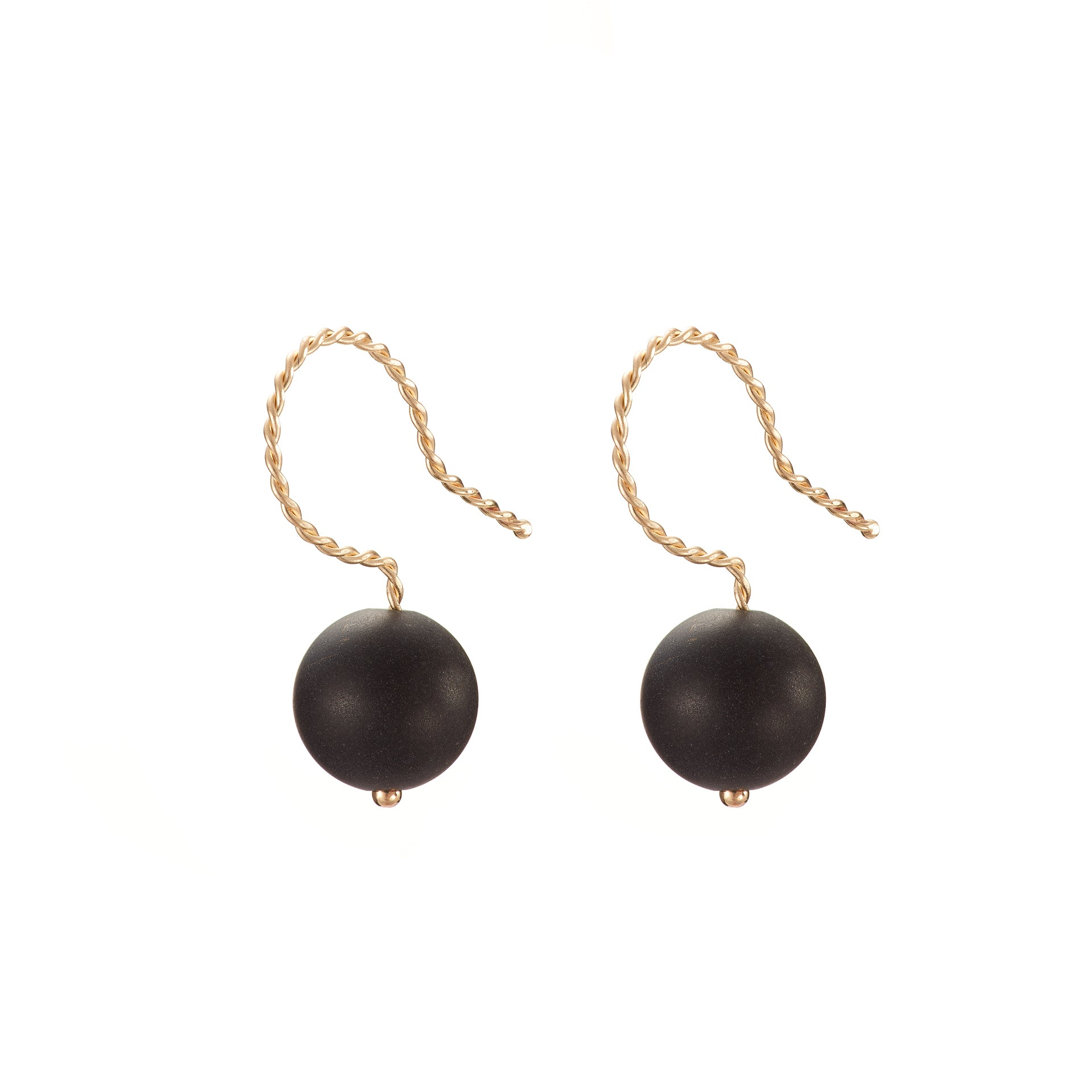 Solo Drop Earring - Matte Black Onyx