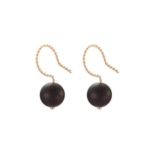 Solo Drop Earring - Matt Black (Onyx)