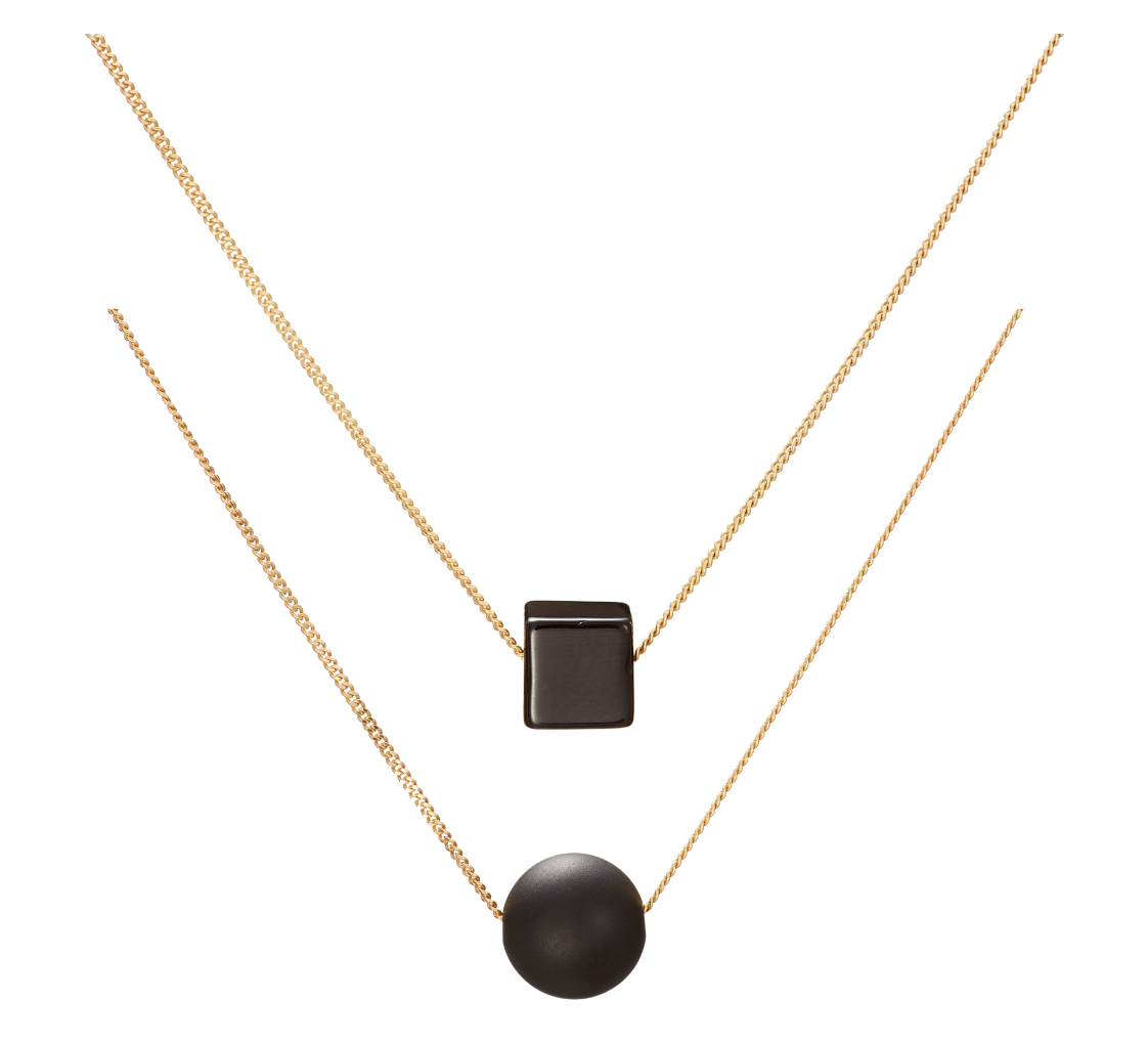 Bold Black Layered Necklace Gift Set