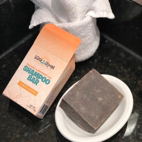Rhassoul and Bentonite Clay Shampoo Bar from Bask & Bloom Essentials