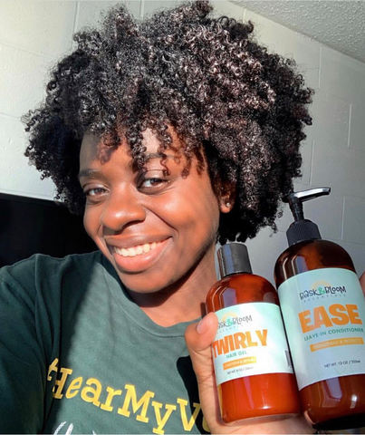 @kinkycurlymary 4b Wash and Go using Ease Leave-in Conditioner from Bask & Bloom Essentials