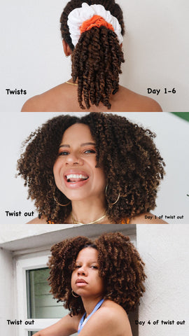 Charlette Twist Out Using Bask & Bloom