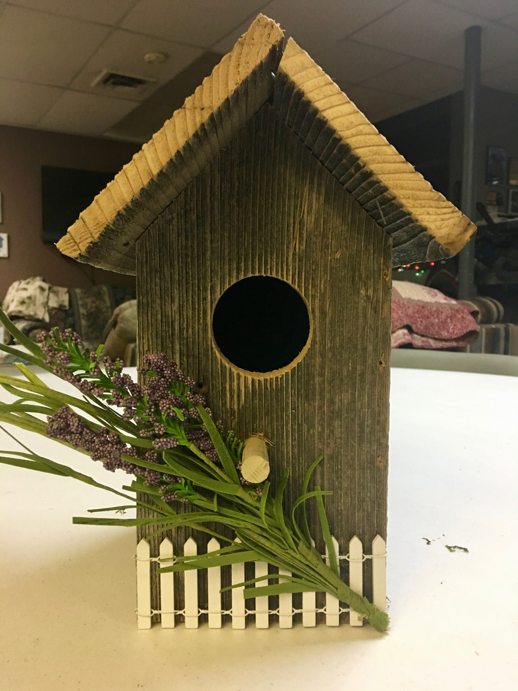 Bird House w/flowers