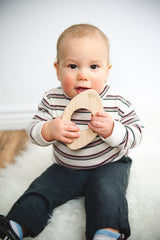 Little Sapling Maple Teether ~ Football