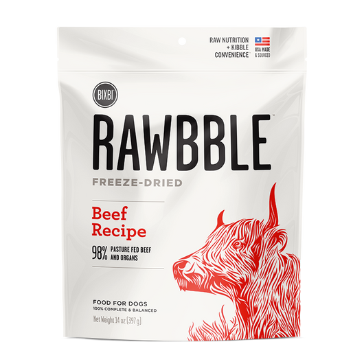 Bixbi Rawbble Freeze-Dried Food ~ Beef