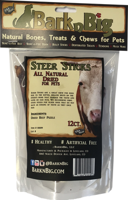 BarknBig Steer Sticks USA Dried Beef Pizzle