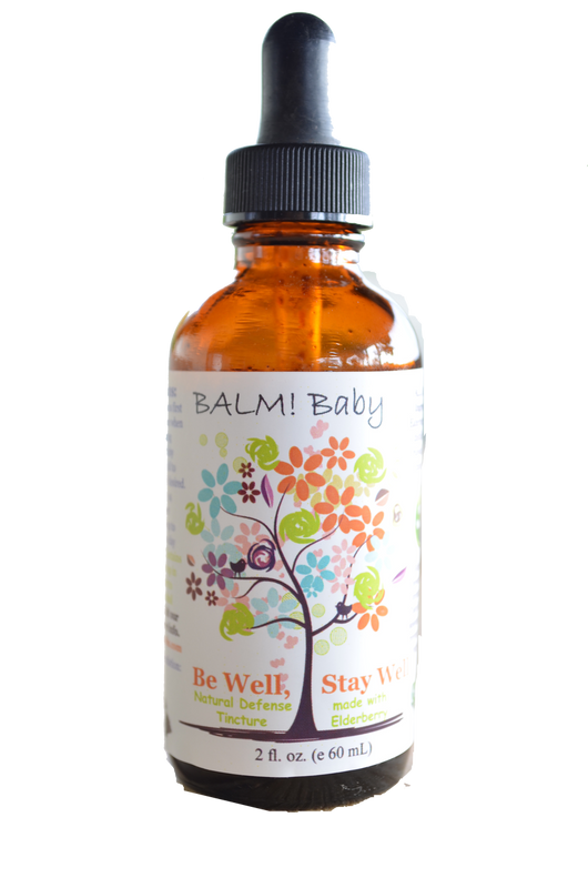 BALM! Baby Be Well, Stay Well Elderberry Immunity Tincture 2oz