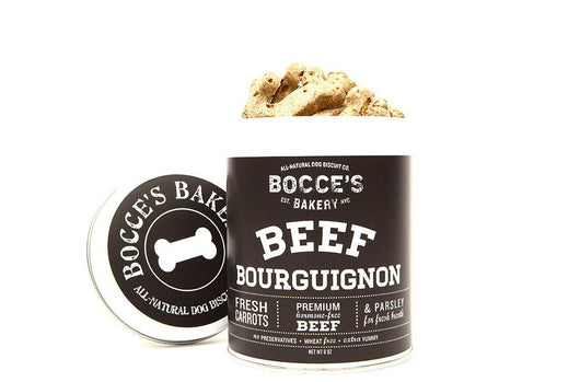 Bocce's Bakery Tin Beef Bourguignon Biscuits 8oz