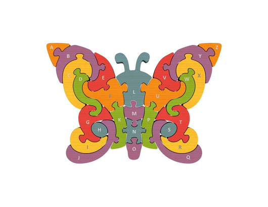 Begin Again Toys Butterfly AtoZ Wood Puzzle