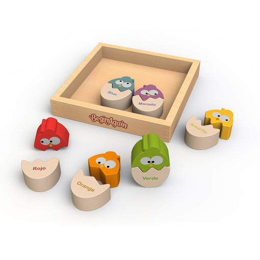 Begin Again Toys Color 'N Eggs Puzzle