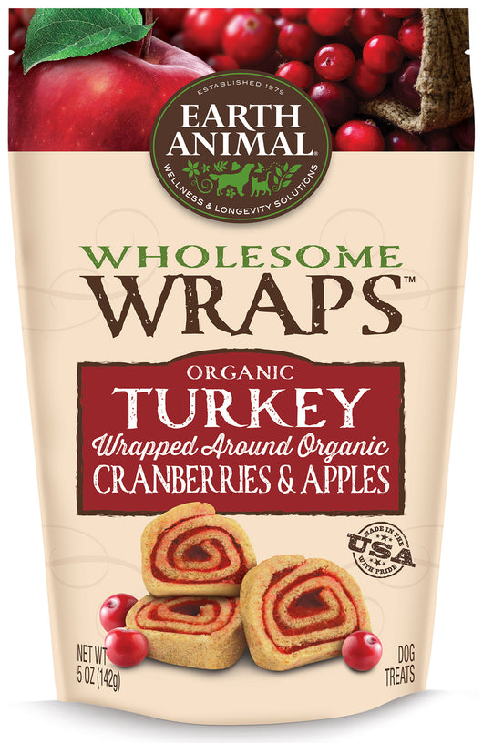 Earth Animal Wholesome Wraps Organic Turkey, Cranberry, & Apple 5oz