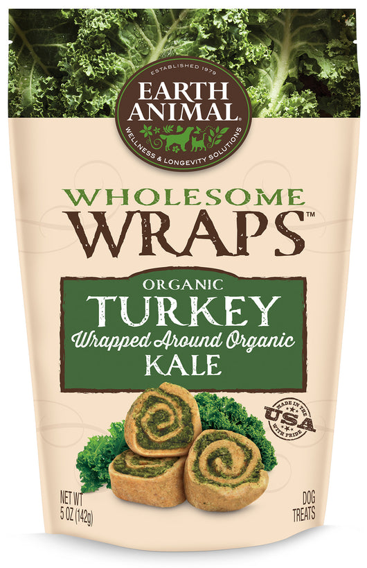 Earth Animal Wholesome Wraps Organic Turkey & Kale 5oz