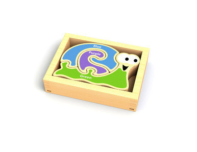 Begin Again Toys Mini Color Snail Learning Puzzle