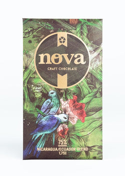 Nova Chocolate Direct-Trade Chocolate Bar ~ 75% Nicaragua/Ecuador Blend