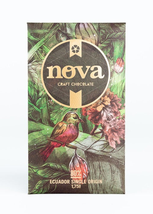 Nova Chocolate Direct-Trade Chocolate Bar ~ 80% Ecuador Single Origin