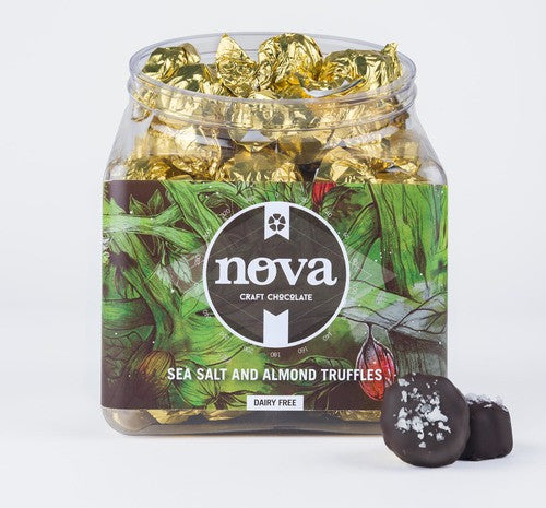 Nova Chocolate Direct-Trade Sea Salt Almond Truffle