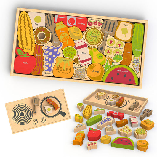 Begin Again Toys Alphabites AtoZ Puzzle and Playset