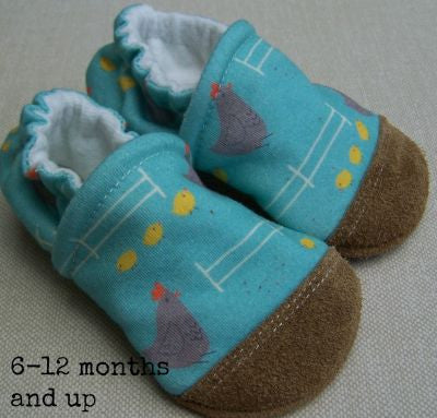 Snow And Arrow Organic Cotton & Wool Slippers ~ 6-12 Months
