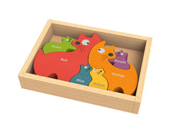 Begin Again Toys Bilingual Cat Family Puzzle