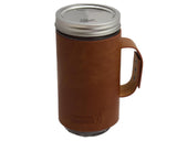 Mason Jar Lifestyle Faux Leather Sleeve with Handle