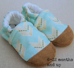 Snow And Arrow Organic Cotton Slippers ~ 18-24 Months
