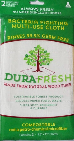 Dura Fresh Multi-Use Wood Fiber Cloths 2ct.