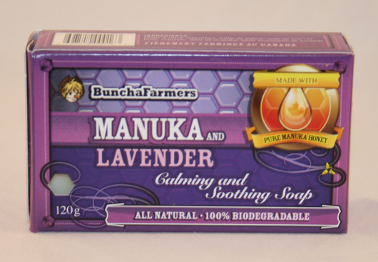 BunchaFarmers Manuka Honey Soap ~ Honey & Lavender