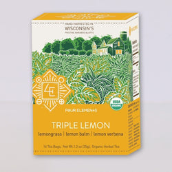 Four Elements Organic Herbals Tea ~ Triple Lemon 16ct